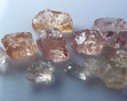 NR!!! 50.80 Cts Natural & Unheated~ Peach Pink Morganite Rough Lot