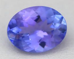1.95Ct VVS Oval Cut Natural Purplish Blue Tanzanite B1716