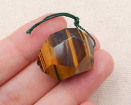 40cts Natural Gold Tiger Eye Beads Pendant,Tiger Eye For Pendant P0023