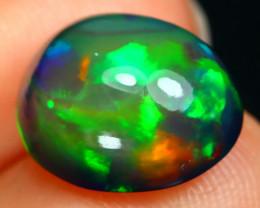 Opal 3.21Ct Rainbow Flash Ethiopian Welo Black Smoked Opal B1729