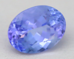 2.27Ct VVS Oval Cut Natural Purplish Blue Tanzanite B1731