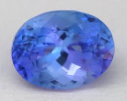 2.54Ct VVS Oval Cut Natural Vivid Purplish Blue Tanzanite B1734