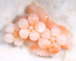 Coral 9.89Ct Natural Carving Italian Pink Coral Flower C1807