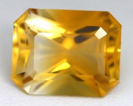 11.06Ct VVS Design Octagon Cut Natural Golden Yellow Citrine C1809