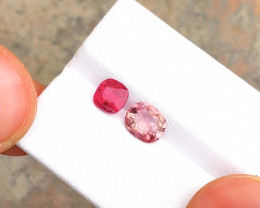 1.90 Ct Natural Pink & Red Transparent  Tourmaline Gemstones Parcels