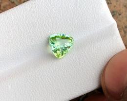 1.30 Ct Natural Blueish Green Transparent Tourmaline Gemstone