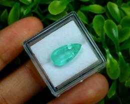 3.84Ct Colombian Muzo Emerald Neon Mint Green Beryl C1824