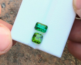 2.55 Ct Natural Green Transparent Tourmaline Gems Parcels