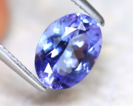 Tanzanite 1.35Ct Natural VVS Purplish Blue Tanzanite D1709/A45