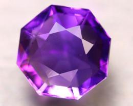 Amethyst 7.08Ct Natural Uruguay Electric Purple Amethyst D1718/C4