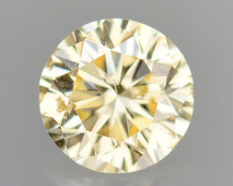 ~UNTREATED~ 0.08 Cts Natural Diamond Golden Yellow Round Cut Africa