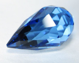 9.60Cts Sparkling Natural Swiss Blue Topaz Brio lite Cut Loose Gemstone Vid