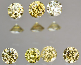 0.35 Cts Natural Untreated Diamond Fancy Yellow Round Cut Africa