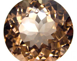 3.82Cts Beautiful Natural Peach Color Morganite Round Shape Loose Gemstone