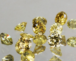 0.31 Cts Natural Untreated Diamond Fancy Yellow Round Cut Africa Parcel