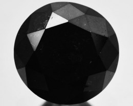 1.94 Cts Natural Black Diamond Round  Africa