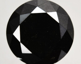 1.64 Cts Natural Black Diamond Round Africa