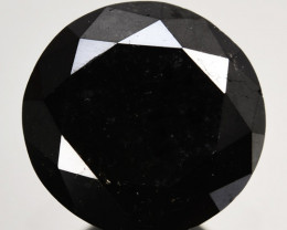 2.00 Cts Natural Black Diamond Round Africa