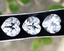 8.905 CT TOPAZ WHITE 3 PC 100% NATURAL UNHEATED MINE BRAZIL