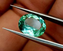 3.75Crt Green Spodumene Natural Gemstones JI34