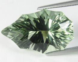 22.26Cts Stunning Natural Green Amethyst (prasiolite) Pear Custom Cut Ref V