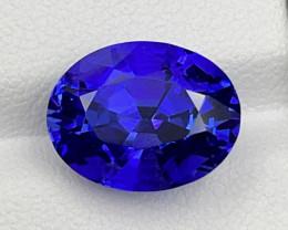 German cutting 6.88 CT Tanzanite Gemstone Top D Block color