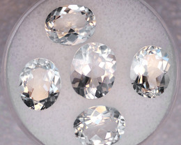 White Topaz Parcel – 16.86 Cts TW - Natural Gemstone – Oval Cut