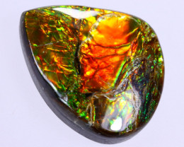 16x12mm,  8.15cts Natural Canadian Ammolite Stone / MA1782