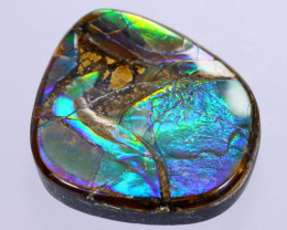 20x19mm,  18.35cts Natural Canadian Ammolite Stone / MA1804