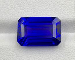 6.99 CT Tanzanite Gemstone vivid blue top luster with good cutting