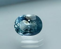 NR!!! 1.45 Cts Natural & Unheated~ Blue Aquamarine Gemstone