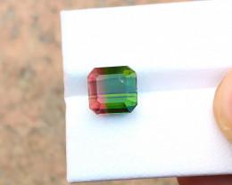4.40 Ct Natural Bi Color Transparent Tourmaline Ring Size Gemstone