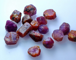 NR!!! 76.00 Cts Natural & Unheated~ Pink Ruby Rough Lot