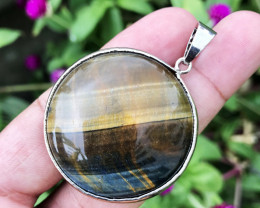 102.840  CT TIGER EYE 100% NATURAL UNHEATED PENDANT