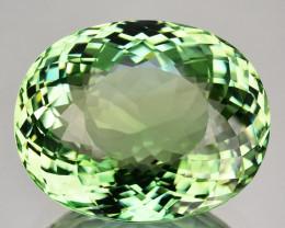30.43 Cts Mind Blowing Natural Mint Green Tourmaline Oval Cut Ref VIDEO