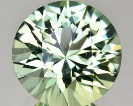 ~BRILLIANT~ 8.20 Cts Natural Mint Green Tourmaline 13 mm Round Cut Congo