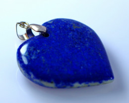NR!!! 73.30 Cts Natural & Unheated~ Blue Lapis Heart Shape Pendant