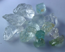NR!!! 100.25 Cts Natural & Unheated~  Blue Aquamarine Rough Lot