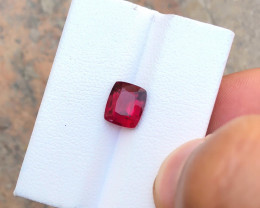 2.25Ct Natural Red Transparent Rubellite Tourmaline TOP Color Gemstone