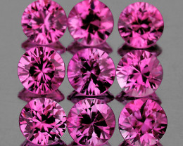 2.80 mm Round 9pcs 0.94ct Unheated Lavender Pink Sapphire [VVS]