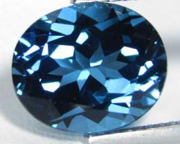 6.14Cts Sparkling Natural London  Blue Topaz Oval Shape Loose Gemstone VIDE