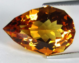 16.86Cts Wow Amazing Natural Citrine Pear Custom Cut Loose  Gem SEE VIDEO