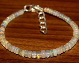 20 Crts Natural Ethiopian Welo Opal Beads Bracelet 156