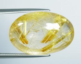 35.05 Ct Top Quality Stunning Oval Cut Natural Golden Rutile Quartz