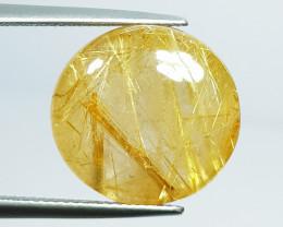 21.15 Ct Top Quality Gem  Round Cut Natural Golden Rutile Quartz