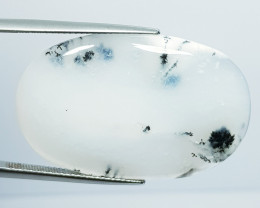 33.03 ct Natural Dendrite Opal Oval Cabochon  Gemstone