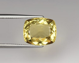 Top Grade 7.45 Carats Natural Heliodor Beryl Gemstone
