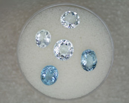 Aquamarine Parcel – 5.60 Cts TW - Natural Gemstone – Oval Cut – March Birth
