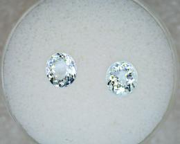 Aquamarine  Pair – 2.05 Cts TW - Natural Gemstone – Oval Cut – March Births