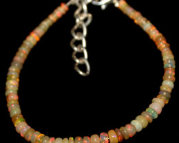 14 Crts Natural Ethiopian Welo Fire Opal Beads Bracelet 958